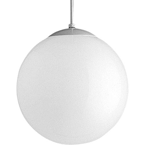 Progress Lighting P4403-29 Opal Cased Globes Provide Evenly Diffused Illumination White Cord, Canopy and Cap, Satin ()