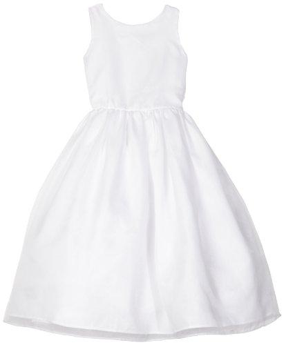 Classic Organza Full Skirt Dress, White, 12 (Angel Communion Dresses)