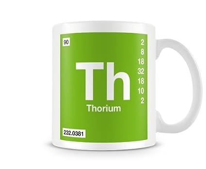 Amazon Periodic Table Of Elements 90 Th Thorium Symbol Mug