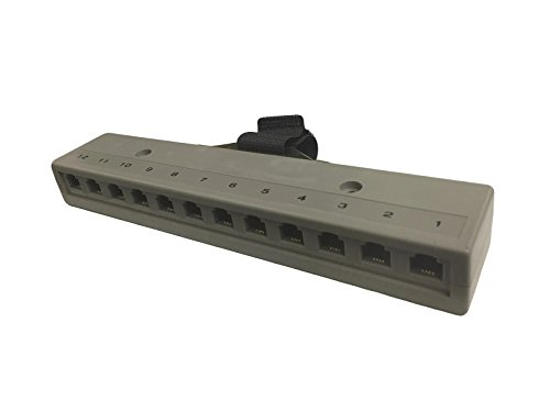 R.J. Enterprises 800T-12(M) - Telco Harmonica Connector (Male), 12 RJ11 Ports (6P4C)