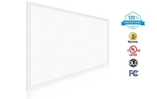 2-PACK ASD LED Panel 2x4 Dimmable Edge-Lit Flat 40W 3500K (Warm White) 4476 lm, UL Listed DLC Certified by ASD (Image #3)
