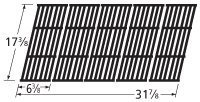Music City Metals 66025 Gloss Cast Iron Cooking Grid Replacement for Select Gas Grill Models by Broil-Mate, Huntington and Others, Set of 5