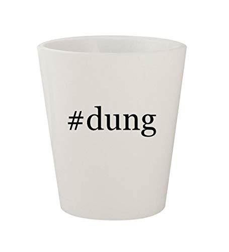 #dung - Ceramic White Hashtag 1.5oz Shot Glass