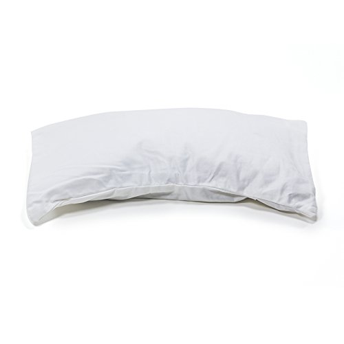 Buckwheat Hulls Pillow Percale Pillowcase Filled with Buckwheat Hulls 6X11 DiscoverHealth