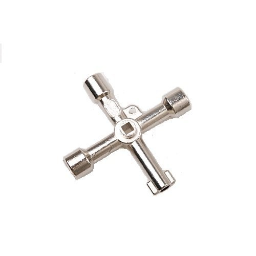 4 in 1 Alloy Triangle/square 4 Way Service Utility Cross Triangle/square Keys for Train Electrical Elevator Cabinet Valve (Train Set Valve)