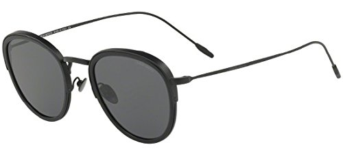 Giorgio Armani Man Sunglasses, Black Lenses Metal Frame, 50mm