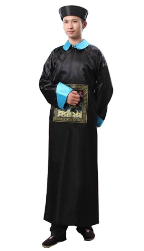 Qing Dynasty Costume (Bysun Ancient Qing Dynasty robes BlackFS)