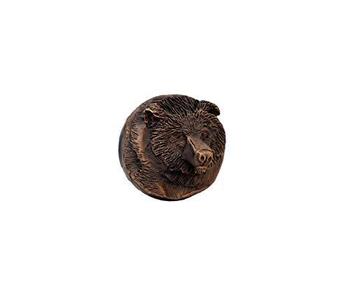 TimberBronze53 W-KBPL-BR-T Bear Knob, Traditional Patina