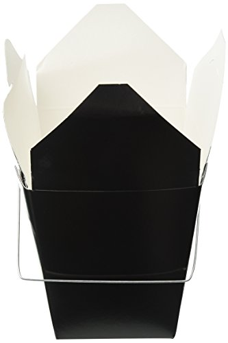 t Chinese Take Out Boxes for Party Favor and Food Pail, 30-Ounce, Black ()