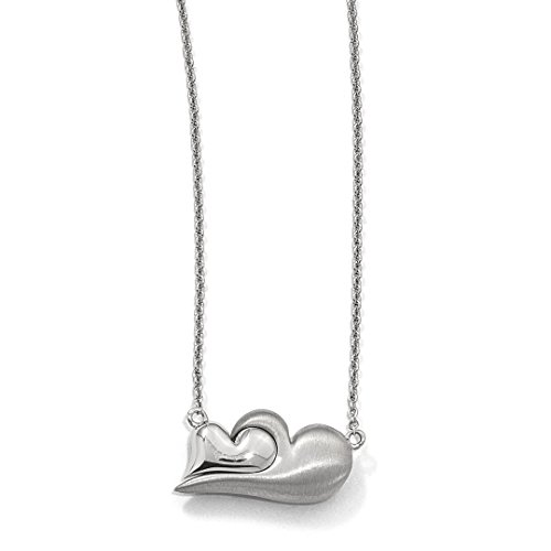 925 Sterling Silver Magnetic Double Heart Adjustable Chain Necklace Pendant Charm S/love Fine Jewelry For Women Gift Set from ICE CARATS
