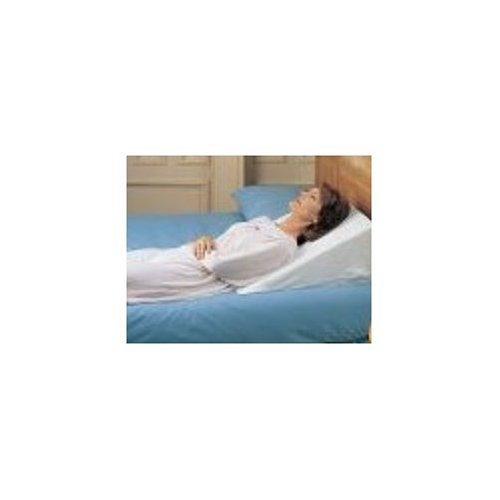 Bed Wedge - Foam Bed Pillow 7'' x 24'' x 24'' Bed Wedge - With White Pillow Cover by Duro-Med 20+ Angle