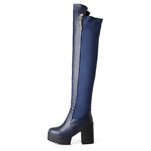 1TO9Mns01811 - Con Plateau donna, Blu (Blue), 35