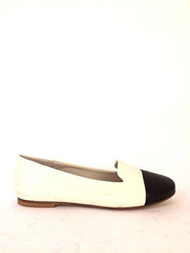 Bianco Mocasines Bicolor Zapatos de nbsp;Pantuflas Bailarinas Piel mainapps DD92 qxFPZn8