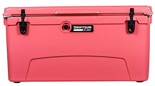 Driftsun 110-Quart Ice Chest, Heavy Duty, High Performance Roto-Molded Commercial Grade Insulated Cooler, Seafoam Green