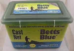 "Betts 15B-6 6Ft Blue Professional Series Cast Net 1//2/"" Mesh 12955"