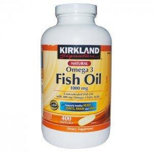 Киркланд Подпись Омега-3 рыбий жир, концентрат 400 Softgels, 1000 мг рыбий жир с 30% Омега-3 (300 мг)
