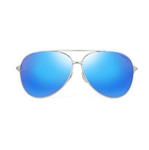 UV400 avec Type en Blue PARZIN Aviateur de Soleil Léger étui Protection Monture Lunettes Chiffon Pochette Vert Polarisées Homme Métal 8q7nf7wWgO