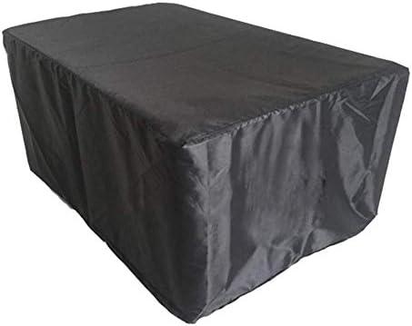 ガーデン屋外用 ガーデン家具カバー アウトドア パティオテーブルとチェアセットカバー 防水保護カバー 、ブラック シバオ (Size : 127x127x67cm)