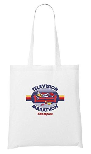 Television Marathon Stofftasche White Certified Freak