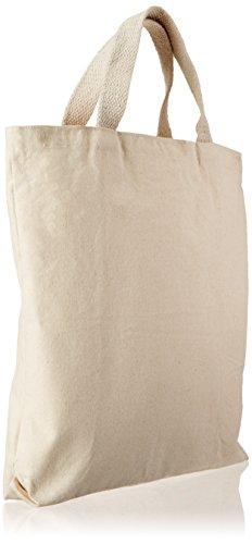 Mark Richards-Borsa con cerniera in tessuto, 13,5 x 13,5 x 2 cm, colore: naturale