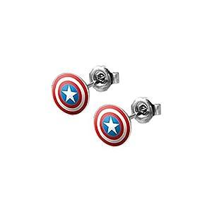 Captain Americas Shield Stud Earrings – Pair