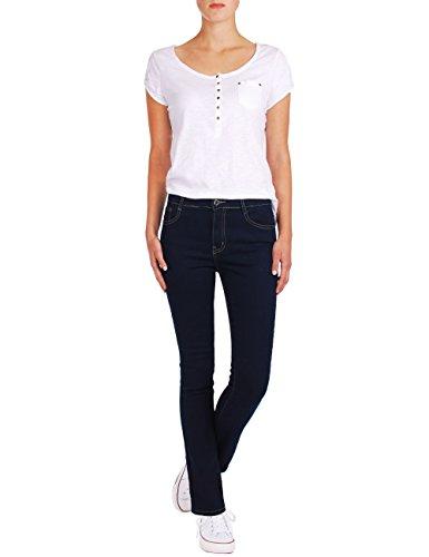 Scuro Donna Pantaloni Fraternel Jeans Straight Blu XxwRzUq