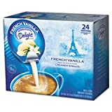International Delight 100681 Liquid Non-Dairy Coffee Creamer, French Vanilla, 0.4375 oz Cup, 24/Box