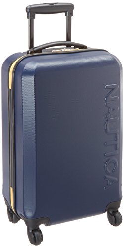 Nautica Carry-On Hardside Expandable Spinner Luggage, Navy|Yellow