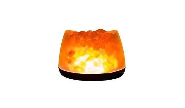 HIMD Himalayan Rock Salt Lámpara De Liberación Iones Negativos Lámpara con Dimmer Control Led Luz Creativa Natural Himalayan Mar Sal Noche Lámpara: Amazon.es: Hogar