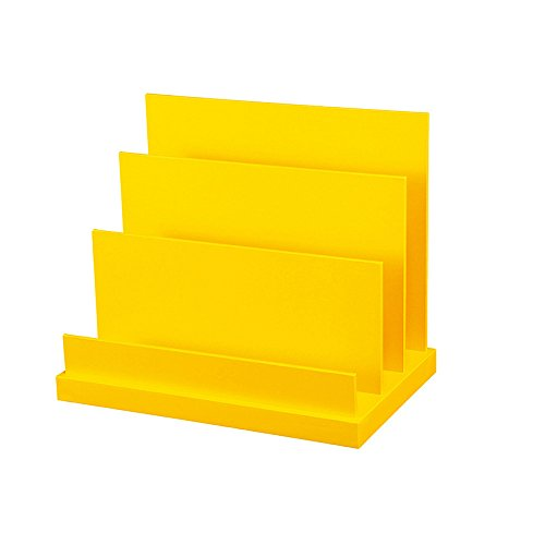 Data Ladder Rack (Bookcase Office Supplies Desktop Storage File Holder Creative Ladder Book Data Holder File Holder Reading Rack,Yellow)