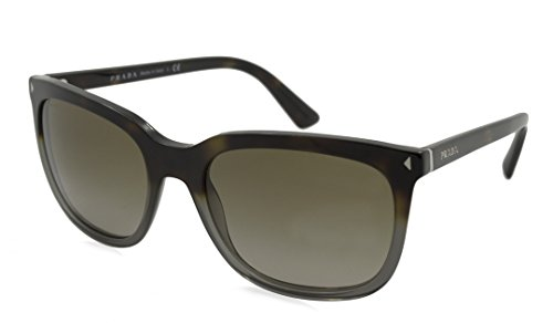 Prada 12RS TKT1X1 Brown Grey Gradient 12RS Square Sunglasses Lens Category - Category 2 Sunglasses