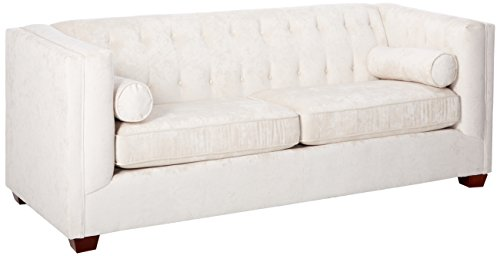 Coaster Alexis Transitional Chesterfield Almond