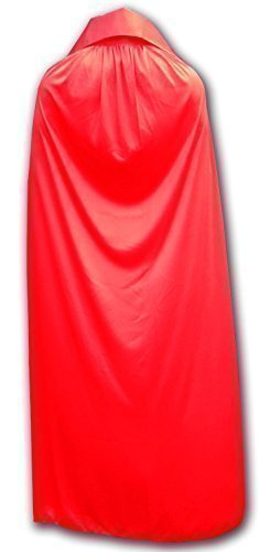 WRESTLING MASKS UK Men's Mexican Lucha Libre Wrestling Cape One Size Red