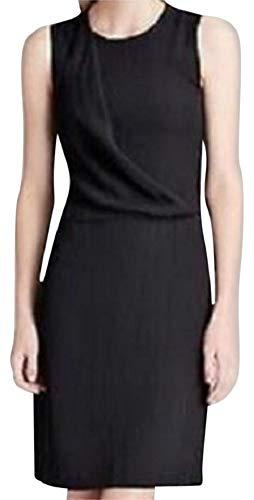 Theory Black Wool - Theory DARBIA Jubilant Stretch Wool Pleated Front LBD Dress, Black, 8
