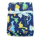 """Baby Boy Dinosaur Soft Blanket 30"""" X 40"""""""