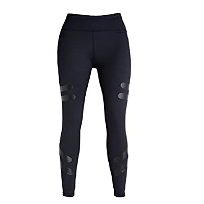 Ikevan Hot Selling Women High Waist Yoga Fitness Leggings Running Gym Stretch Sports Pants Trousers