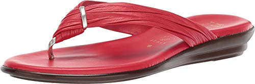ITALIAN Shoemakers Women's Aleena Sandal (6.5 M US, Red)