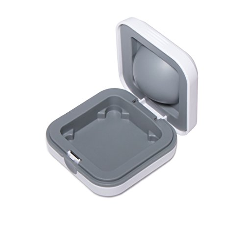 Durable Hearing Amplifier Storage Case - Ideal for CIC ITE BTE RIC Hearing Aid/Small Electronic Device, White by MicroEar (Image #3)