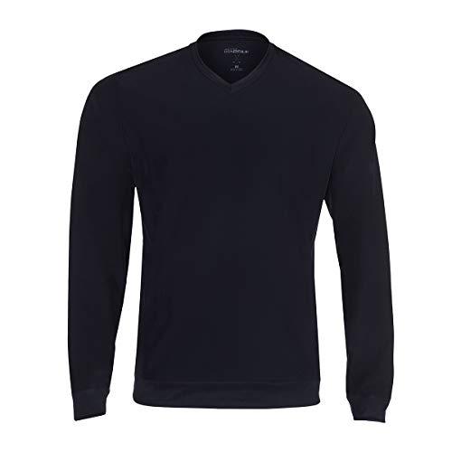 (Skechers Golf Men's Chop V Neck Golf Pullover Windshirt, Bold Black, M)