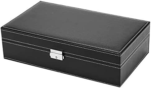 Office Chair FHW 8-Digit Watch Box Jewelry Storage Makeup Upgrade Version-Black