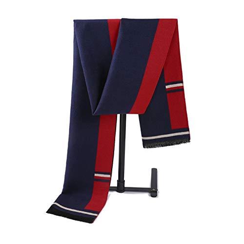 Tricoté Bleu Style Britannique Écharpe Cachemire Hiver Hommes Rouge Amdxd 180cm Pour Modèle Automne pYxq4R7w