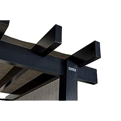 Sojag 10' x 16' x 8' Yamba Outdoor Backyard Pergola Rectangular Shaped Gazebo, 10' x 16', Dark Grey : Garden & Outdoor