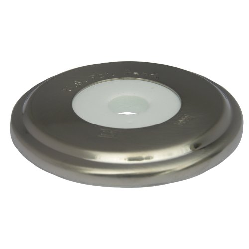LASCO 03-6015 Bathtub Spout with Round Trim Plate, Satin Nickel