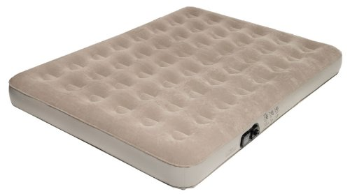 Pure Comfort Full Low Profile Suede Air Bed with Built in Pump (Tan, Full), Outdoor Stuffs