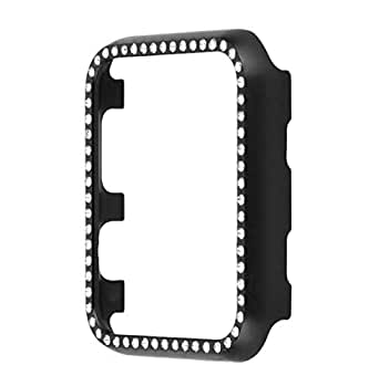 Diamond aluminum shell Cover for Apple Watch 42mm Crystal Rhinestone Protective Frame Case iwatch Series 3/2/1 Metal Bumper