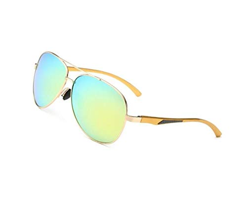 polarisées de de Golden Lunettes protection UV400 la Femmes Hommes Lunettes de Huyizhi voyager soleil pêche Cool Lunettes soleil conduire nYRq7xw8