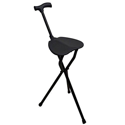 Baston con asiento | Patas tripode | Aguanta hasta 100 kg | Aluminio muy resistente| Ligero| Con puno derby