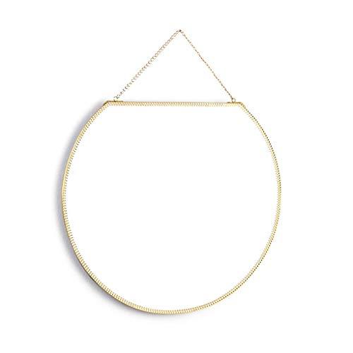 Nordic Brass Gold Espejo Redondo Espejo de tocador Espejo de Maquillaje Decoración Creativa Espejo de Entrada Espejo de...