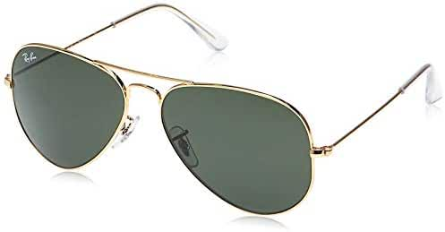 Rayban - Gafas de sol Aviador Aviator Large Metal, Gold (L0205 Gold)