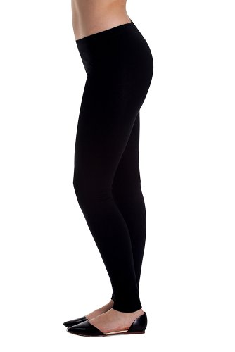 In Touch Cotton Spandex Leggings: Tights for Women, Running, Dance, Yoga, Hiking, and Fashion